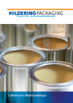Product brochure cylindrical tin can packaging