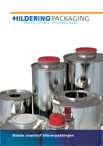 Product brochure round liquid tinplate containers